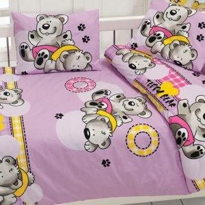 Детское постельное белье Class Ayicik v2 Lila 100x150 (CB08007801) Сиреневый