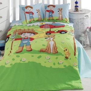 Детское постельное белье Class Ciftci v1 100х150 (CB08007830) Зеленый