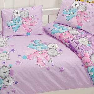 Детское постельное белье Class Dus v1 Pembe 100x150 (CB08007803) Сиреневый