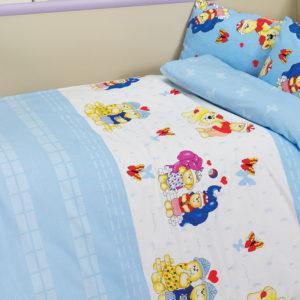 Детское постельное белье Class Happy v1 Mavi 100x150 (CB08007820) Голубой