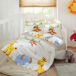 Детское постельное белье Class Tiere v1 100x150 (CB08007827) Бежевый