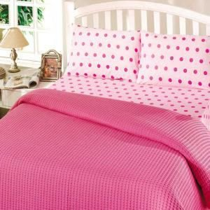 Летнее постельное белье Пике Perlay Fusya 200×240
