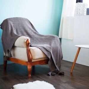 Плед вязанный SoundSleep Olvia коричневый 140х180