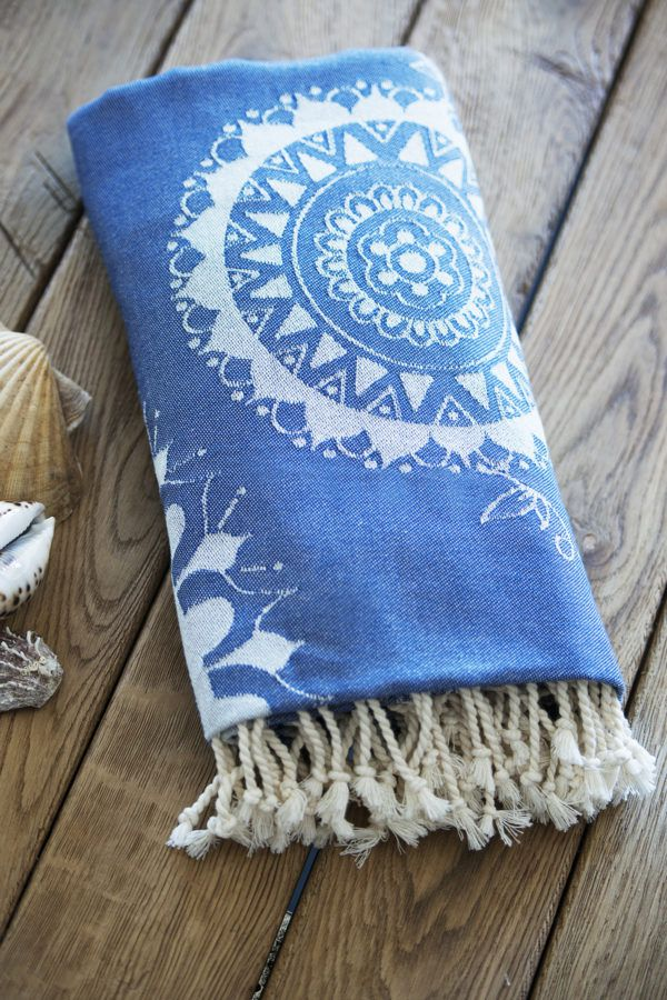 Пляжное полотенце SoundSleep Goa blue 100x180(MG_653590747703)Голубой