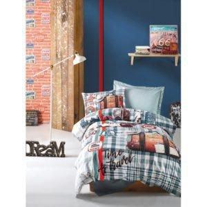 Подростковое постельное белье Cotton Box AIR TRAVEL PETROL 160x220 (CB08007780) Серый