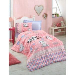 Подростковое постельное белье Cotton Box ANIMALS PEMBE 160x220 (CB08007768) Розовый