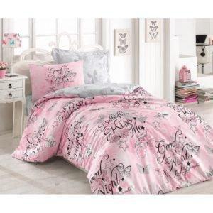 Подростковое постельное белье Cotton Box FEELING PEMBE 160x220 (CB08007748) Розовый