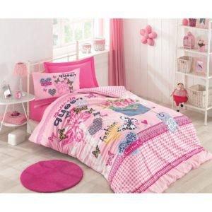 Подростковое постельное белье Cotton Box QUEEN PEMBE 160x220 (CB08007752) Розовый