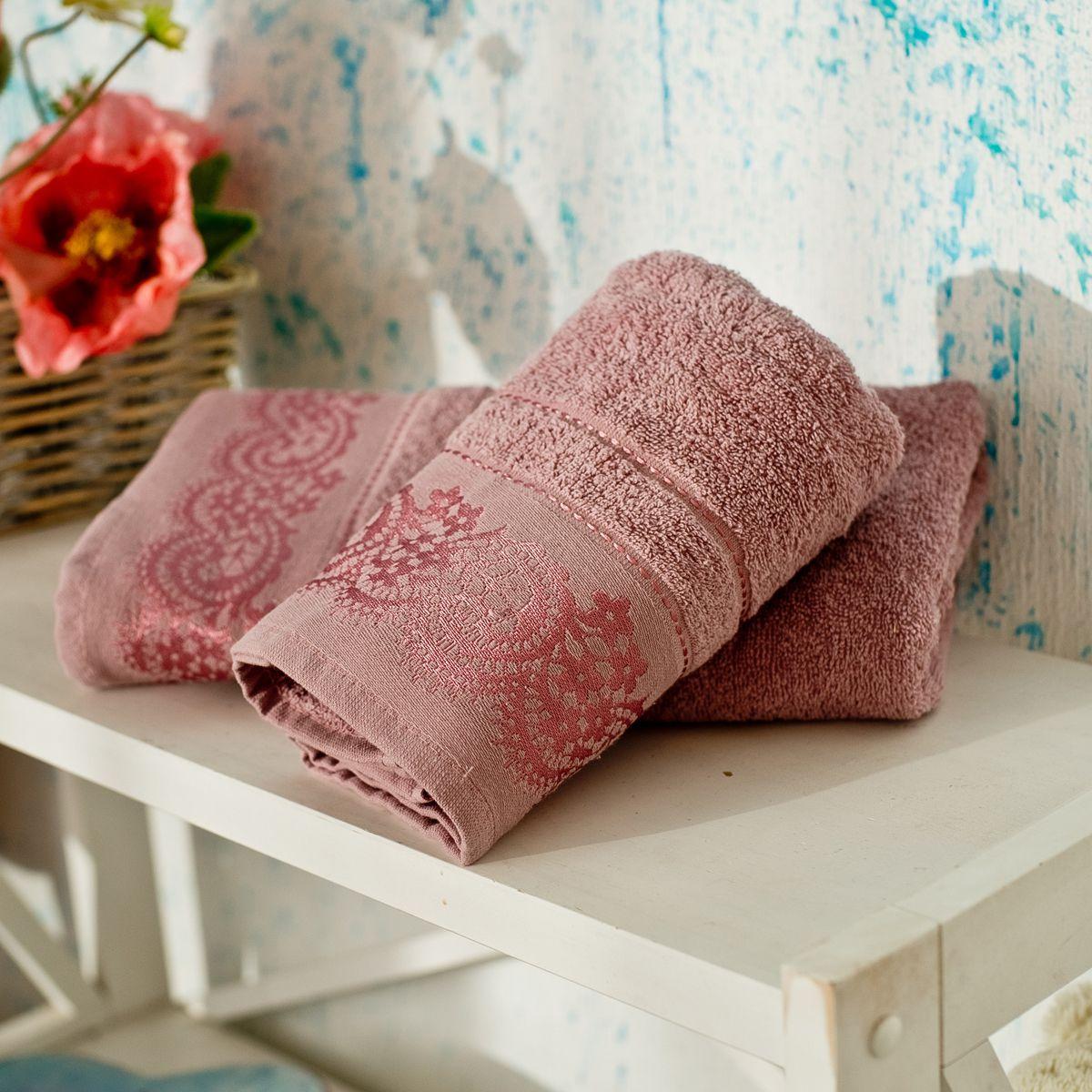 Полотенце махровое SoundSleep Odesse сухая роза 70х140(MG_91699166)Розовый