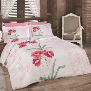 Постельное белье Class Bahar teksil Nilufer v2 Pembe 200x220 (CB010078174) Розовый