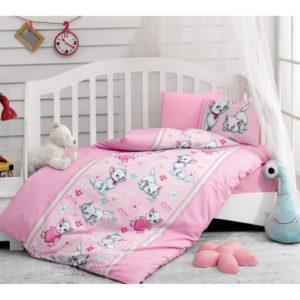 Постельное белье Cotton Box для новорожденных Miyav Pembe 100x150 (CB08007759) Розовый