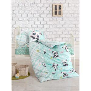 Постельное белье Cotton Box для новорожденных Panda Mint 100x150 (CB08007777) Бирюзовый