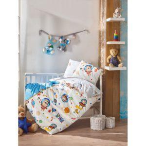 Постельное белье Cotton Box для новорожденных Uzay Oyunu Mavi 100x150 (CB08007789) Серый