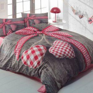 Постельное белье Cotton Box 3D LOVEBOX KIRMIZI 200×220