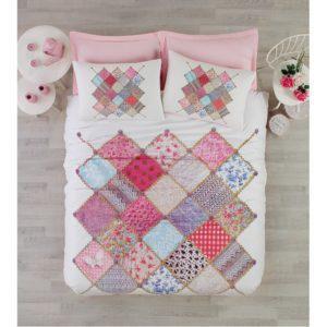 Постельное белье Cotton Box 3D NATALI PEMBE 200×220