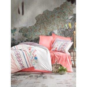 Постельное белье Cotton Box ELENA SOMON 200x220 (CB010077462) Розовый Белый