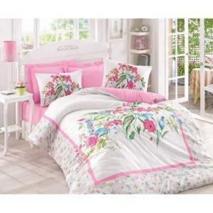Постельное белье Cotton Box MEHSIMA PEMBE 200x220 (CB010077389) Розовый