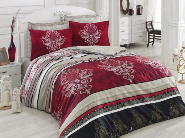 Постельное белье Cotton Box Royal ASRA BORDO 200x220 (CB010077321) Красный