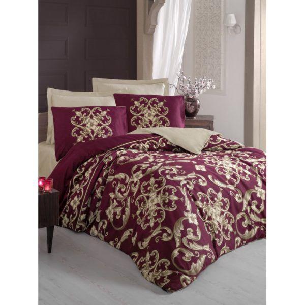 Постельное белье Cotton Box Royal TAYLOR KIRMIZI 200x220 (CB010077418) Бордовый