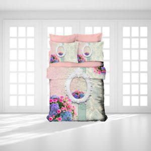 Постельное белье Gokay 3D Masal 200x220 (CB010079131) Розовый|Бирюзовый