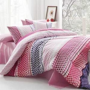 Постельное белье Majoli Bahar teksil Fashion v2 Pembe 200x220 (CB010078191) Розовый