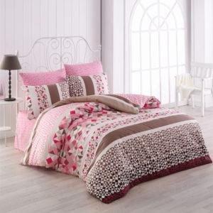 Постельное белье Majoli Bahar teksil Laviva v2 Pembe 200x220 (CB010078247) Розовый