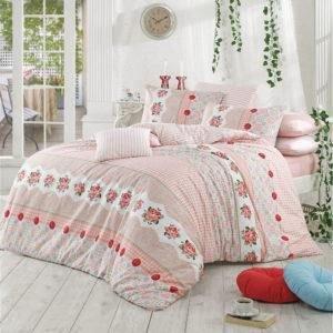 Постельное белье Majoli Button v1 200x220 (CB010078288) Розовый