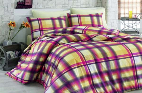 Постельное белье Majoli Fantasia v5 200x220 (CB010078297) Желтый|Розовый
