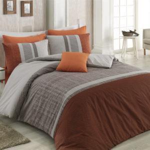 Постельное белье Majoli Spencer v2 200x220 (CB010078328) Коричневый|Серый