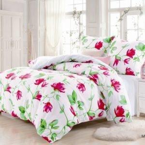 Постельное белье Valtery MP-13 200x220 (CB010082101) Розовый|Белый
