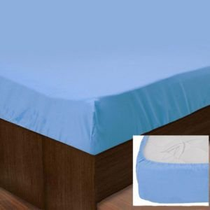 Простынь на резинке SoundSleep 143 blue