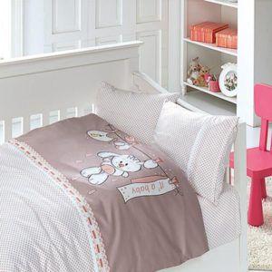 Детское постельное белье в кроватку First Сhoice Baby Pudra 100x150 (m013957) Бежевый