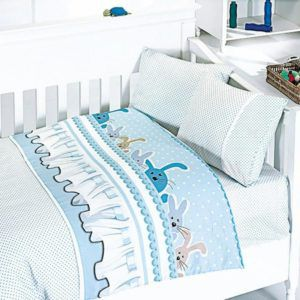 Детское постельное белье в кроватку First Сhoice Ginny Mavi 100x150 (m013954) Голубой