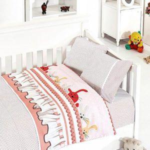 Детское постельное белье в кроватку First Сhoice Ginny Pudra 100x150 (m013953) Розовый
