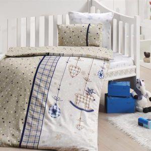 Детское постельное белье в кроватку First Сhoice Palmy Lacivert 100×150