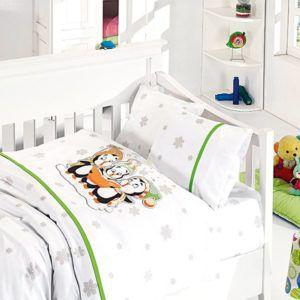 Детское постельное белье в кроватку First Сhoice Penguins Yesil 100×150