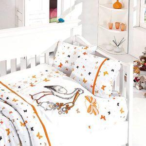 Детское постельное белье в кроватку First Сhoice Stork Orange 100×150