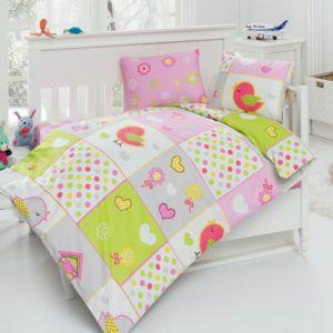 Детское постельное белье Class Bird v1 100х150 (CB08007806) Розовый