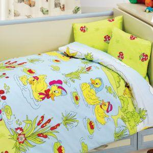 Детское постельное белье Class Duck 100х150 (CB08007813) Зеленый|Голубой