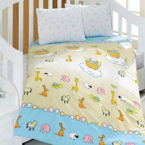 Детское постельное белье Class Safari 100х150 (CB08007808) Кремовый|Голубой