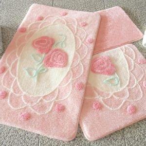 Коврик в ванную Chilai Home Dantel Pink 60x100 (CB11006911) Розовый