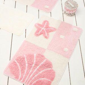 Коврик в ванную Chilai Home Deniz Yildizi Pink 60x100 (CB110069108) Розовый
