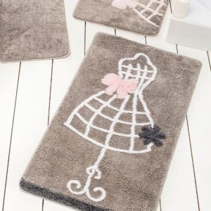 Коврик в ванную Chilai Home Elbise Gri 60×100