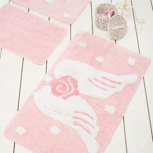 Коврик в ванную Chilai Home Melek Pink 60x100 (CB11006933) Розовый