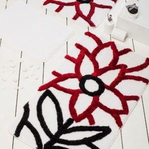 Коврик в ванную Chilai Home Naturel Red 60x100 (CB11006923) Белый Красный