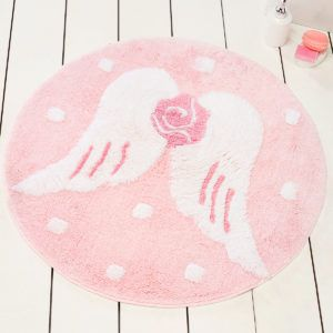 Круглый коврик Chilai Home Melek Pembe Yuvarlak 90 см. диаметр (CB110069113) Розовый