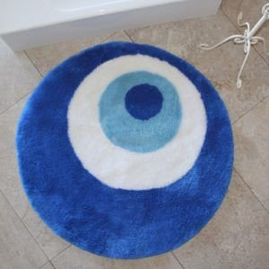 Круглый коврик Chilai Home Nazar Boncugu 90 см. диаметр