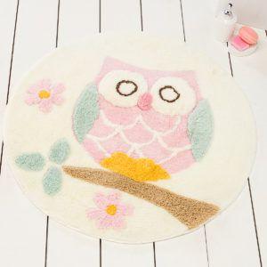 Круглый коврик Chilai Home Owl Ekru 90 см. диаметр