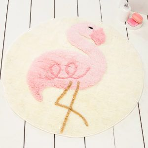 Круглый коврик Chilai Home Pink Flamingo Yuvarlak 90 см. диаметр