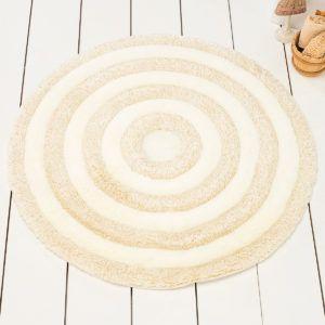 Круглый коврик Chilai Home Round Ekru 90 см. диаметр